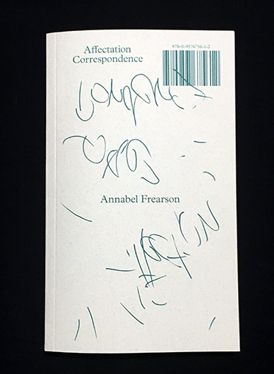 ANNABEL FREARSON, Affectation Correspondence cover